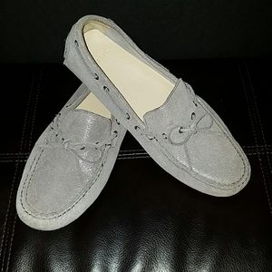 Cole Haan Silver Driving Moccasins